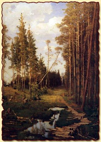 Саврасов Алексей - Просека в сосновом лесу